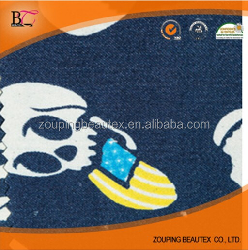Manufacturers selling new skull print fashionable cotton denim jeans clothing wholesale
