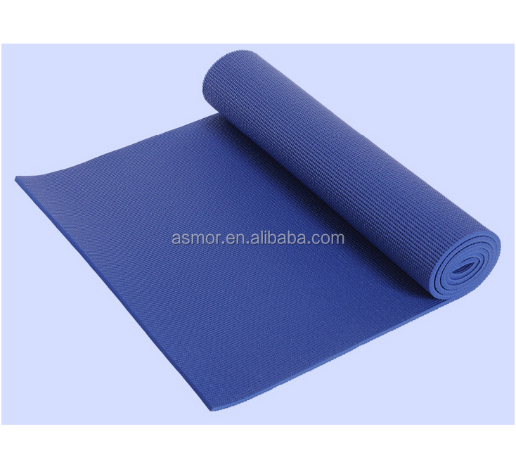 cheapest Eco Friendly PVC Black Yoga Mat with best quality