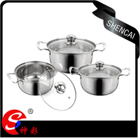 High quality kitchen product/6pcs stainless steel cookware set