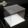 JINBAO clear plastic packaging containers acrylic material packing box and diaplay stand