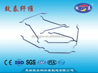 Cement reinforced End hook steel fiber with high tensile strength>1000Mpa