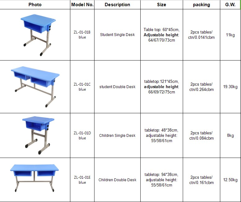 Quality-Assured cheap durable kids study room furniture