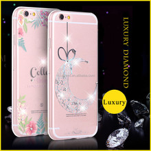 Luxury Crystal Diamond various patterns Clear Soft Phone Case Cover For iPhone 6S 6S Plus