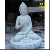 Hand Curved Large Marble Buddha Statue
