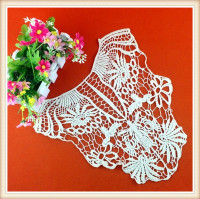 2016 New arrival fashion collar /neck designs cotton crochet neckline for ladies suit for bridal accessory
