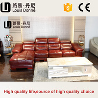Gold supplier china factory offer single seat leather sofa