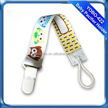 0%BPA soft and cute baby clip pacifier holder