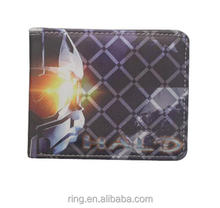 Game Jewelry Halo Card Wallet Leather Coin Purse Men Short Wallet
