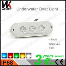 WEIKEN 45w underwater led marine boat spa light waterproof rov fountain boats parts