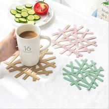 PVC irregular creative cup cushion/table protector mat/coffee cup mats