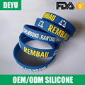 Cheap white printed silicone bracelet for events