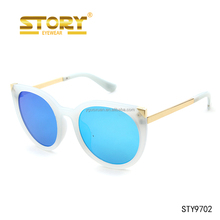 STORY Round Crystal Color Frame Neon Green Sunglasses Disposable Sunglasses Withou Nose Pads