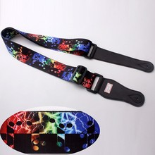 Direct sale guitar accessories-guitar strap polyester material sublimation colorful logo