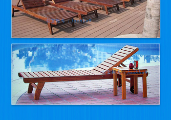 Popular professional outdoor furniture durable adjustable wooden beach chair