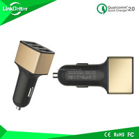 latest design Qualcomm Certificated 7.2a tower car charger for travelling