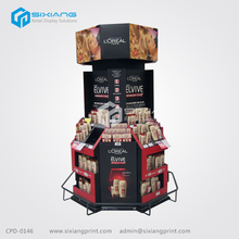 Promotional Cardboard Cosmetic Pallet Display For Haircare Products
