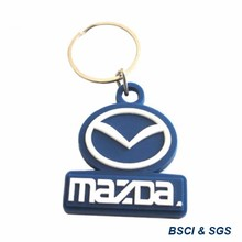 rubber plastic logo key chain for key holder