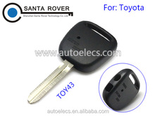 For Toyota Remote Key Fob Shell Cover 2 Side Button Toy43 Blade