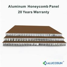 Exterior insulated aluminium honeycomb panel