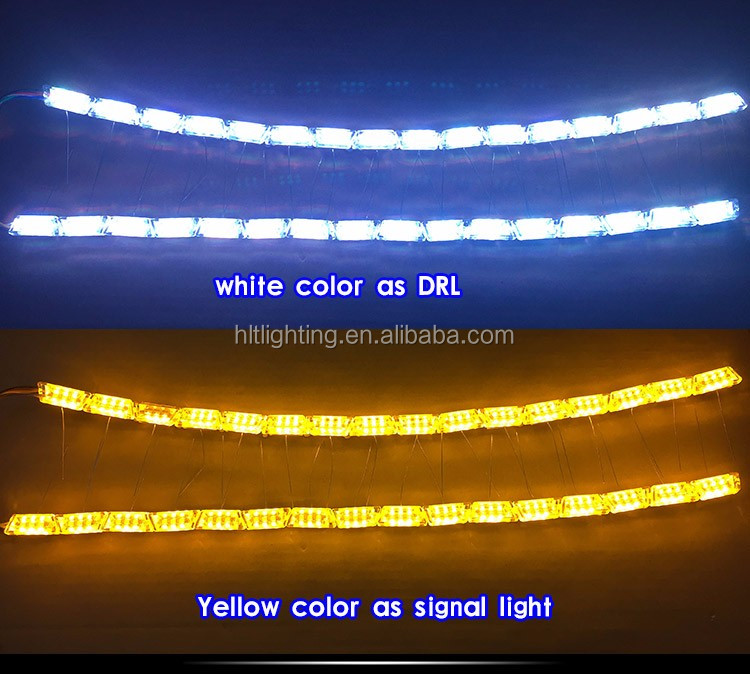 Newest LED RGB DRL Light with Amber Color Turn Signal Light