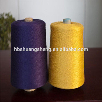 Ne38 100% dope dyed combed cotton spun yarn for socks