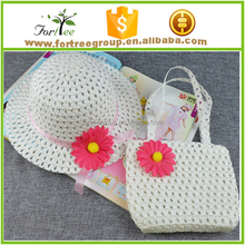 white children paper straw hats small