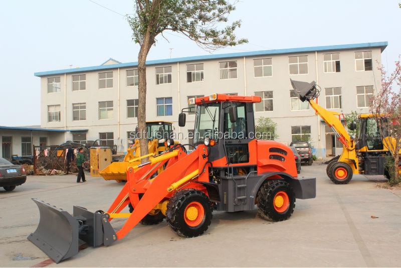 ZL920 Front End Fork Auto Mini Wheel Loader With CE 2.0 Ton Rated Load