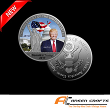 2017 American Liberty Coin US 45th President Donald Trump Silver Plated Souvenir Coins New designs