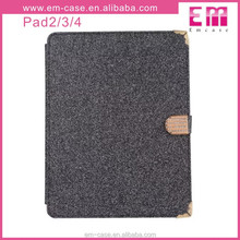 Luxury Flash Giltter Rhinestone hard back cover for ipad2 3 4, Wallet Case Cover for ipad