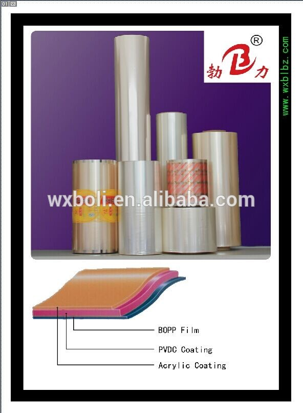 Factory price high obstruction pvdc coated on bopp film with best price