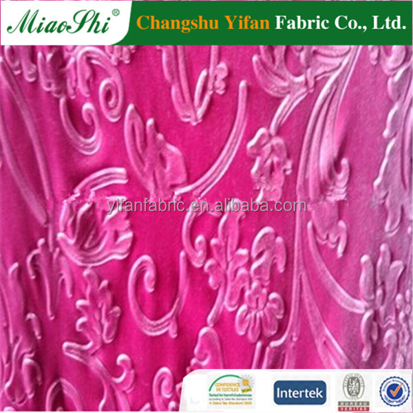 children frocks designs manufactory spandex velvet fabric ks 3D embossed