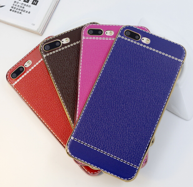 Factory price high quality soft TPU case cover for iPhone7 cover with electroplating color