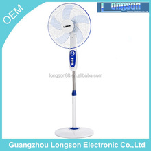 heavy duty base ac / dc stand fan price with high quality aluminium motor