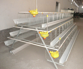 4-Tier Chicken Layer Cage/A Type, 4 Tiers, 128 Birds Chicken Cage