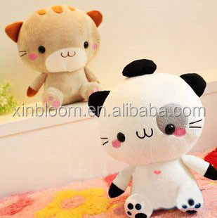 Fancy lovely cartoon style Natsume Yuujinchou Nyanko Sensei big face and head cat Plush doll Pillow