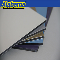 beautiful pe paint 4mm waterproof polyester coating aluminum composite panel(acp) brushes acp