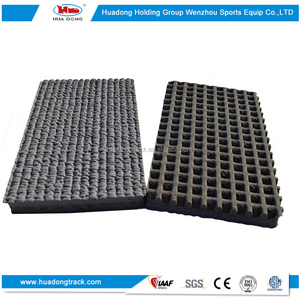 Safety flooring rubber runway mat running track surfacing
