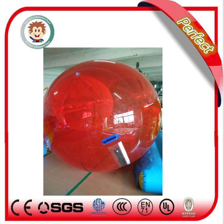 Material PVC/TPU human size floating inflatable water balls walking on water ,inflatable water ball