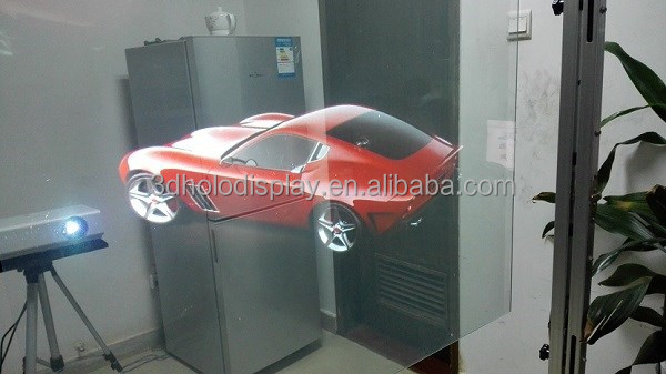 Rear Projection Holographic Screen/Transparent Rear Projector Film/Indoor Hologram Advertising