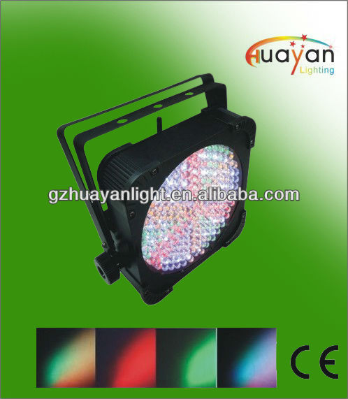 Slim Flat RGB Par64 Can DMX 512 DJ Show Disco light 7ch 183 LED Stage Lamp