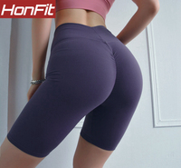 gym high waist workout fitness biker short fashion ladies biker shorts
