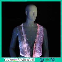 Latest design LED glow fashionable casual waistcoat for men design