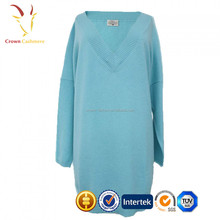 Cotton Cashmere V-Neck Tunic for Lady