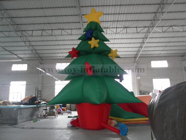 Durable commercial inflatable christmas tree decorations