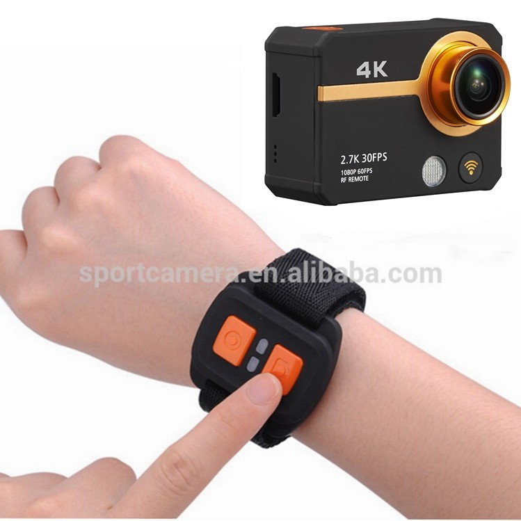 New arrival 2.0 inch screen 170 degree 20MP RF watch remote wifi action cam 4k eken h9r