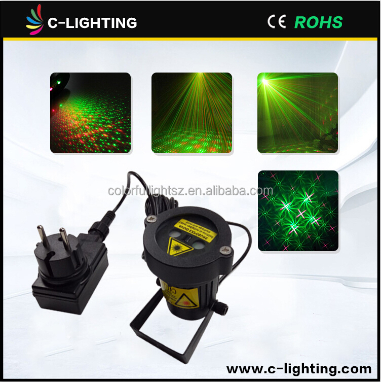 Red /Green color christmas laser light projector outdoor
