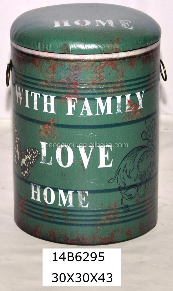shabby and chic green color wooden container