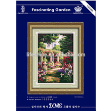 """Fascinating Garden"" DOME Cross Stitch kit wall hangings, Embroidery Cross Stitch Kit,cross stitch kit"