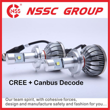 C-ree auto headlight with canbus decoder 9007 led headlamp 57w hi lo beam