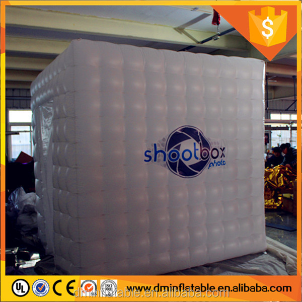 Camera machine use inflatable photo booth with led